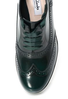 Fashion Days - ИЗБРАНИ ПРОДУКТИ ЗА ВАС - Dark Green Leather Brogues