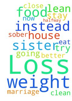 Weight Loss -  Please pray for the Lords will and help with my weight loss. I am going to try and eat better and lean on God more instead of food. Also for my marriage and also please for my sister who is now in halfway house to stay clean and sober and close to the Lord.  Posted at: https://prayerrequest.com/t/Nca #pray #prayer #request #prayerrequest