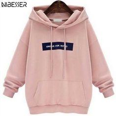 Comprar Rosa   Cinza Plus Size Camisola Do Hoodie Hoodies moletons Feminino  Das Mulheres Mangas Compridas 00ee41761fc9b