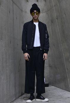 Street style: Joo Woo Jae at Seoul Fashion Week Fall 2015 shot by Joo Min Hoo