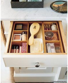 Maybe in nightstand for nail polish