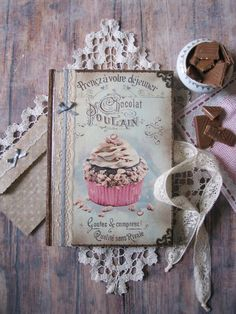 Blank recipe book with muffin cover receipt book by BethStyleBook