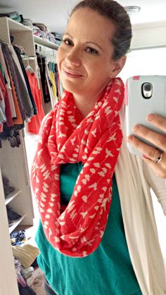 Octavia Henry Birds Infinity Scarf $28 What I love-What is not to love? It's a scarf, it's orange, and it's awesome!!! What I don't love- Can't think of anything! Verdict? KEPT #stitchfix #stitchfixreview