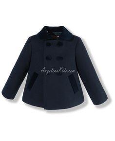 e629ef916 Abrigo azul de paño acolchado Marca Fina Ejerique | sewing for kids