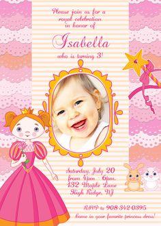 Princess 5x7 party invitation $10.00