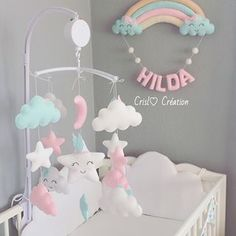 Baby Crib Mobile Baby Cribs Baby Bedroom Kids Bedroom Baby Room Decor Baby Frame Eco Baby Handmade Baby Kids And Parenting Baby Bedroom, Baby Room Decor, Nursery Decor, Girl Nursery, Girl Room, Baby Crafts, Diy And Crafts, Handgemachtes Baby, Diy Bebe