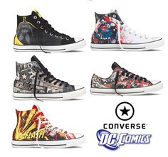 e2c9575f553928 Converse has teamed up with DC Comics for a collection of special hi and  low Chuck Taylors for Men . The collection consists of 6 differe.