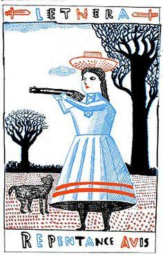 JOHN BROADLEY, illustration, type, line, colour, drawing, card, person, design