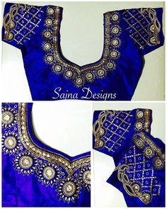 Wedding Saree Blouse Designs, Pattu Saree Blouse Designs, Half Saree Designs, Blouse Designs Silk, Designer Blouse Patterns, Saree Wedding, Half Saree Lehenga, Net Saree, Sarees