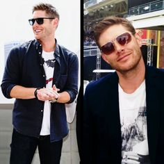 he is looking so cute in this picture. Jensen Ackles