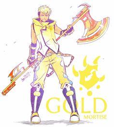 RWBY OC - Gold Mortise by mangarainbow