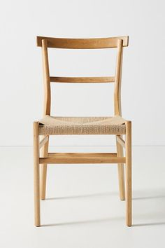Oak Farmhouse Dining Chair by Anthropologie in Beige Size: All, Chairs