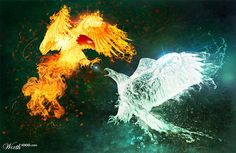 fire and ice angel - Google Search
