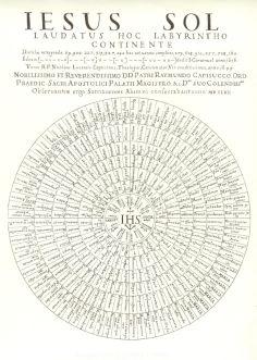 """Laberinto recogido en el libro """"Primus Calamus..."""" (1663) de Juan Caramuel. #Poesiavisual"""