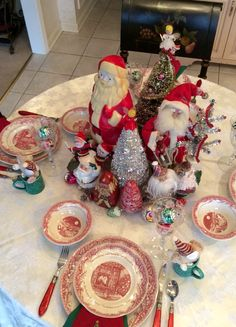 Twas The Night Before Christmas Red Transferware Dishes By Johnson Brothers Home Goods Graced My Table For Eve Brunc
