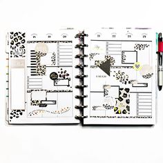 Week Planner, Planner Diy, Planner Layout, Planner Organization, Planner Ideas, Happy Planner, Printable Labels, Printable Planner, Planner Stickers