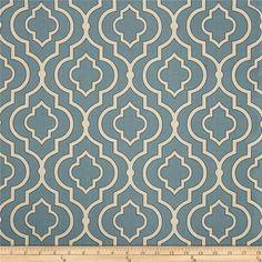 "Two  96"" x 50""  Custom Curtain  Panels - Tile Pattern - Blue/Ivory"