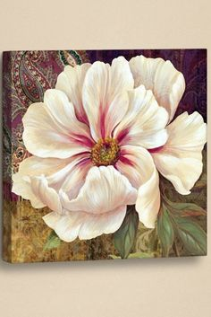 Esperance Peony – mini by Pamela Gladding - Blumen Pallet Painting, Painting Frames, Painting & Drawing, Peony Drawing, Decoupage, Art Floral, Flower Prints, Flower Art, Painting Techniques