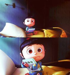Shared by Find images and videos about cute, despicable me and agnes on We Heart It - the app to get lost in what you love. Disney Cartoons, Disney Pixar, Agnes Despicable Me, Orphan Girl, My Minion, Minions Minions, Kindergarten, Cute Little Things, Disney And More