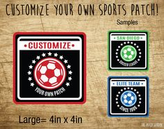 Custom round square Custom Soccer Patches
