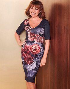 0fe0e6033a2 Lorraine Kelly Floral Print Dress Navy Size UK 20 rrp 39 DH170 LL 04   fashion