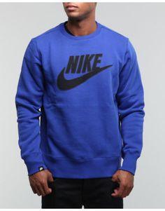 Nike - Men Pl Brushed Crewneck...
