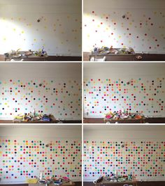 DIY Dot Wall Progression