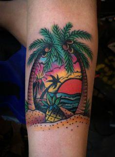old school beach tattoo - Cerca con Google