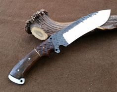 Camp Bushcraft Custom Handmade Forged Blade Rosewood Survival /Hunting Knife