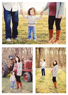 family maternity pictures (I like the top one best...).  When I have another baby someday I would love to do this.