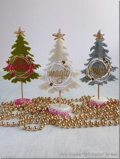 [Calendario dell'Avvento] Progetto fadate 3 Alberelli natalizi in #feltro: segnaposti o regalini | cafe creativo | Bloglovin'