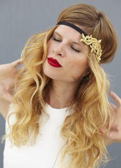 Hair Dresser On Fire | Tessa Metallic Crest Soft Headband by Andrea's Beau