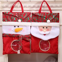 Decoration Christmas Bag New Year Holiday Home Decorations Snowman Santa Claus