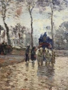 Diligence à Louveciennes (Orsay), 1870.
