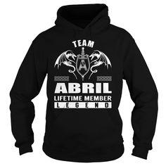 Team ABRIL Lifetime Member Legend - Last Name, Surname T-Shirt