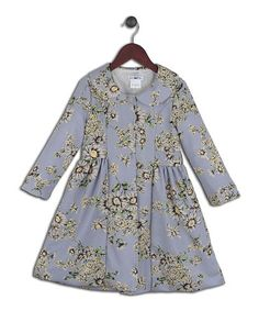 Look what I found on #zulily! Lavender Daisy Jacquard Coat - Toddler & Girls by Joe-Ella #zulilyfinds