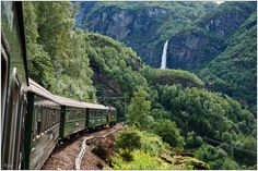 The Flåm Railway from Myrdal to Flåm (Norway) definitely has its place amongst the most spectacular train journeys in Europe.