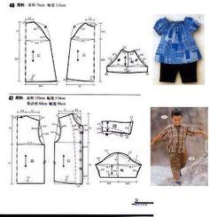 Microvawe Oven Dapur Gas: Pola - Pola Baju Kanak kanak