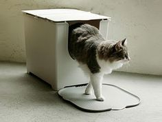 Flip Litter Box by Modko    www.canessi.com/kattenbakken-interieur  #cat #cats #design #interior #litterbox