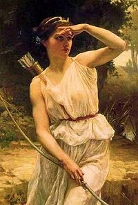 Artemis is Apollo's twin sister, daughter of Zeus and Leto. She was born on the island of Delos. Artemis is the goddess of hunting, and the flocks. She protects every animal on earth, wild or tame. Later she also became the protector of women ιn labor. Roman Mythology, Greek Mythology, Greek Goddess Art, Greek Gods And Goddesses, Potnia Theron, Artemis Goddess, Artemis Art, Apollo And Artemis, Moon Goddess
