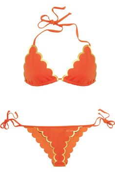 CHLOÉ  Scalloped triangle bikini    (I would opt for a little more rear coverage than pictured but like the scallops on a bikini)