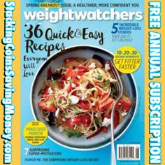 FREE Annual Subscription To Weight Watchers Magazine 2015 - STACKING COINS SAVING MONEY [SCSM]