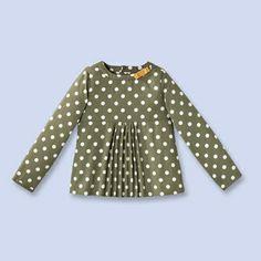 Polka dot blouse - Girl - KHAKI/ECRU - Jacadi Paris