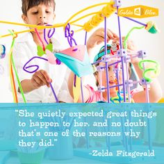 "Zelda Fitzgerald ""She quietly expected great things to happen to her, and no doubt that's one of the reasons why they did."" #inspiration #STEM"
