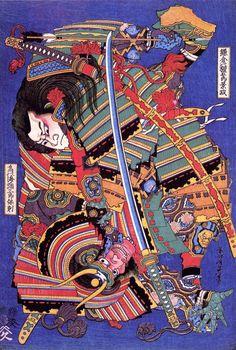 Woodblock print by Katsushika Hokusai Ronin Samurai, Samurai Art, Samourai Tattoo, Art Occidental, Art Asiatique, Katsushika Hokusai, Japan Tattoo, Art Japonais, Japanese Painting