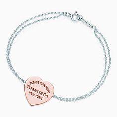 Return to Tiffany® heart bracelet in RUBEDO® metal and sterling silver, medium.