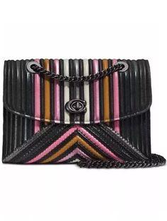 cd6ceba1d Coach Parker 26848 Black Multi Colorblock in Quilting Rivets Bag   coachquiltedbag Bolso De