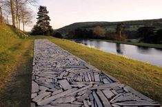Land Art- Richard Long, Cornwall Slate Line, Chatsworth