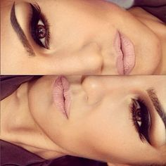 Iove The eye make up with the nude lips