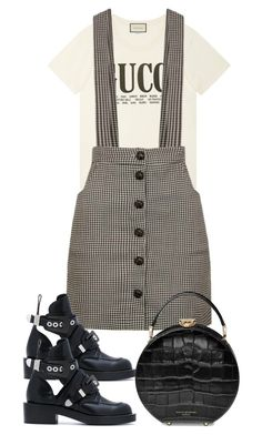 """Untitled #5378"" by theeuropeancloset on Polyvore featuring Gucci, Balenciaga and Aspinal of London"